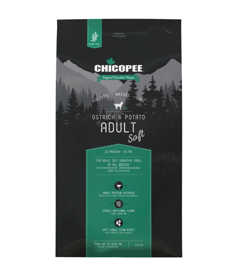 Chicopee HNL - Grain Free - Adult Soft Ostrich & Potato 12kg